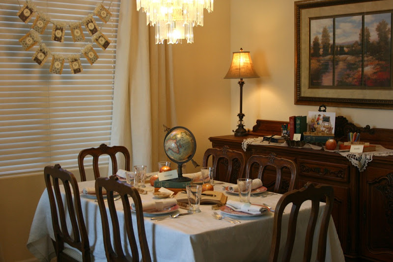 back to school tablescape overview