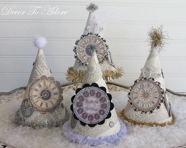Parisian Party Hats for New Years Eve
