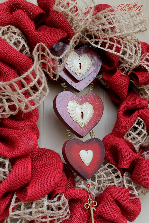 """Let My Love Open The Door"" Valentine Wreath"