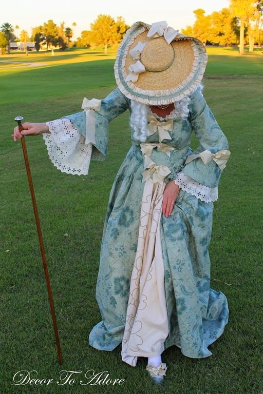 18th Century Ensemble Decor To Adore hat and shoes