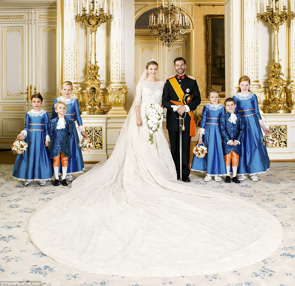 Prince Guillaume and Belgian Countess Stephanie de Lannoy were married