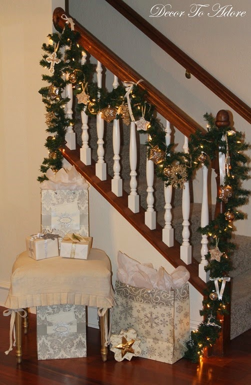 I decorated my very first christmas banister decor to adore for Decor you adore facebook