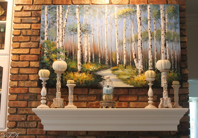 Fall Home Tour 2015 mantle