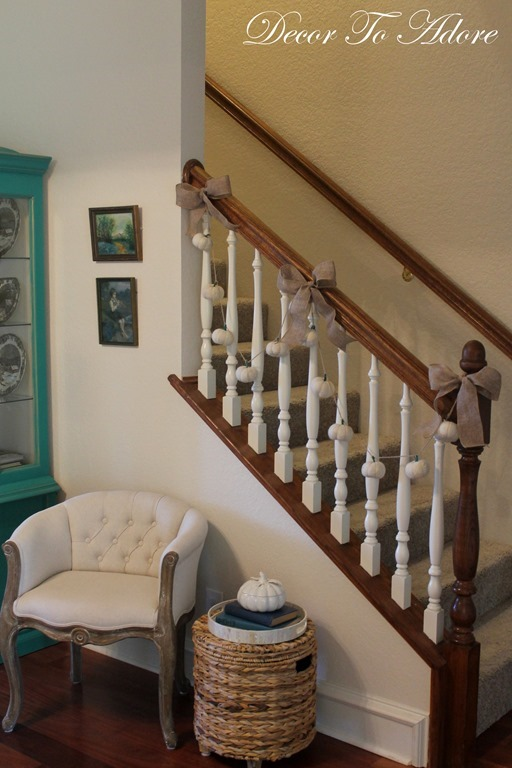 Fall Home Tours 2015 banister
