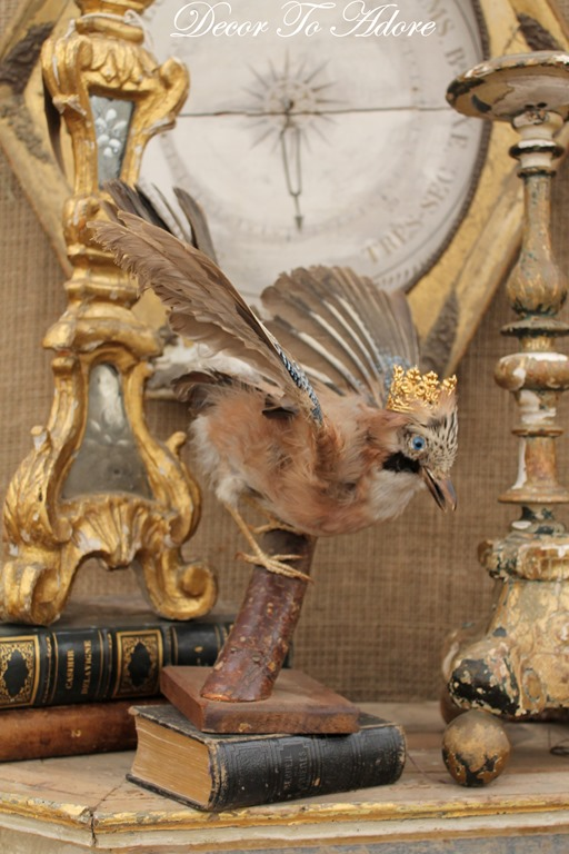 bird with crown Finding Inspiration at Round Top by Decor To Adore