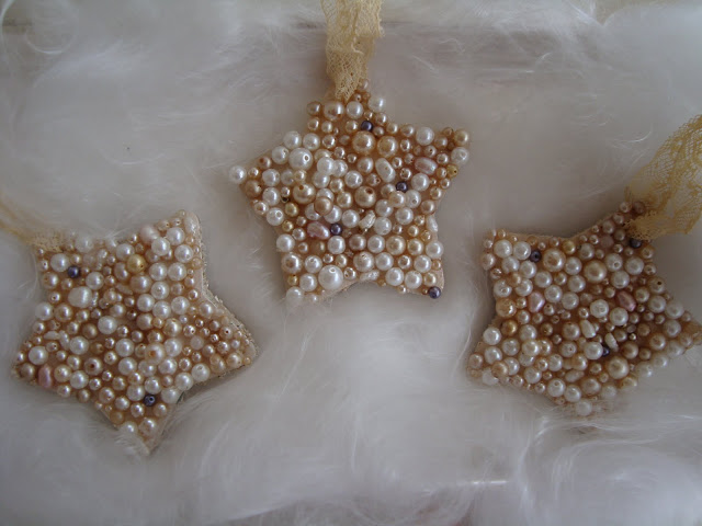 Pearl Star Ornament