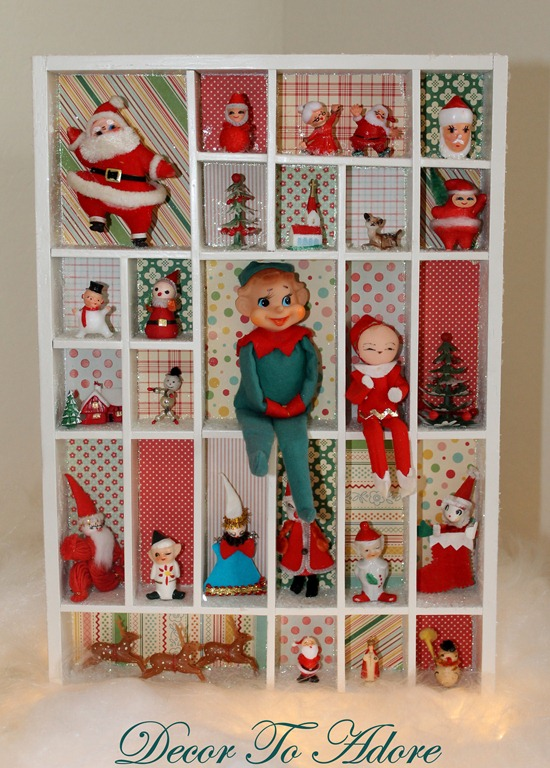 Vintage inspired advent calendar