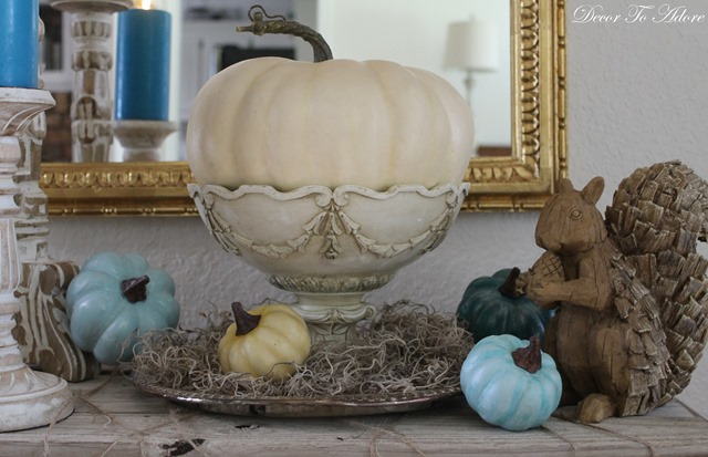 Fall Home Tour 2016 squirrel sculpture