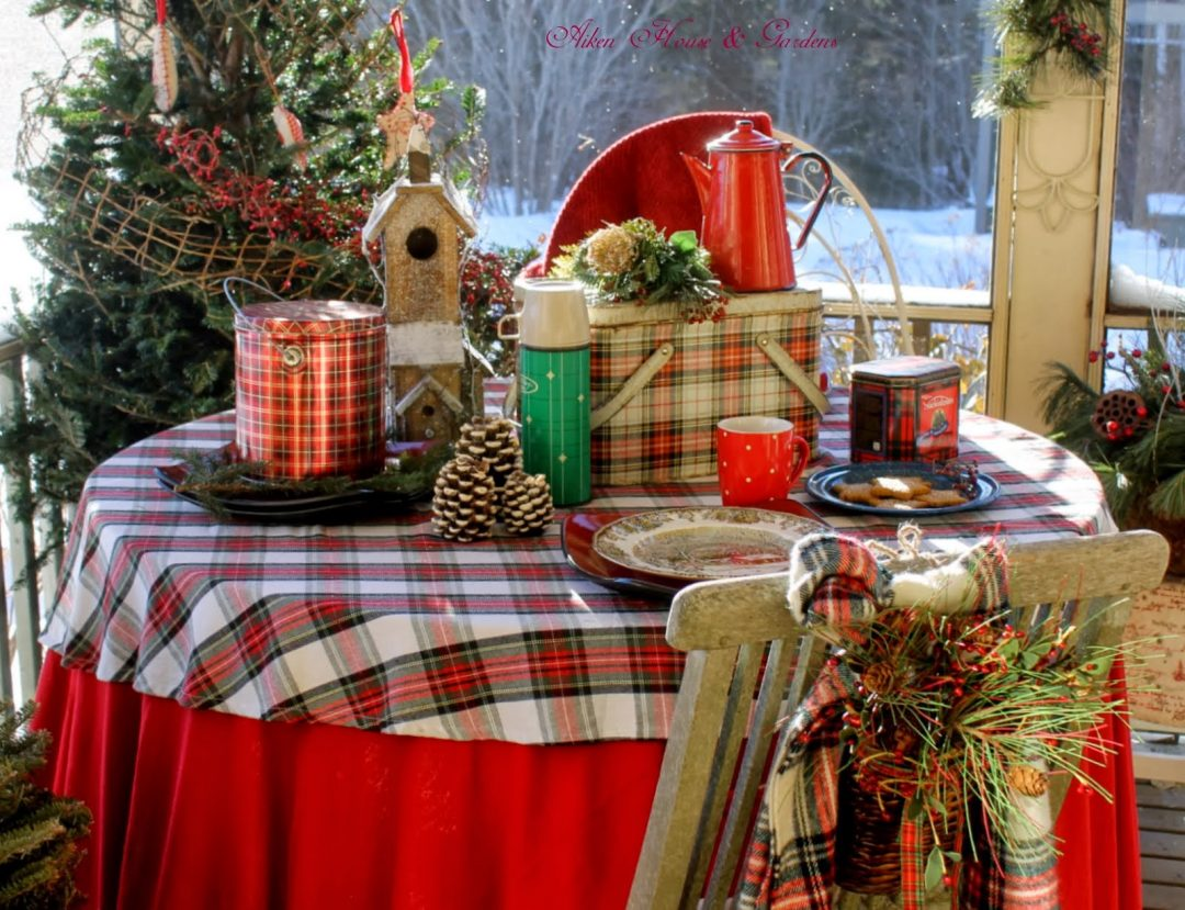 Tablescape by Aiken House and Gardens plaid