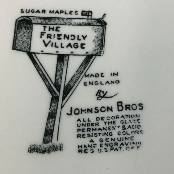 Johnson Brothers Friendly Village stamp