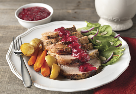 turkey with cranberry gravy