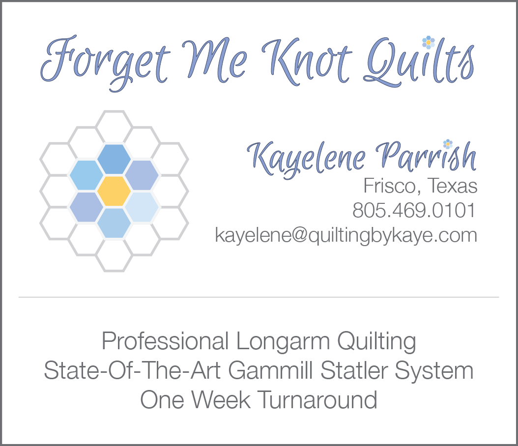Forget me knot quilts