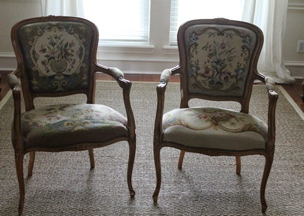 Summer Snapshot ~ Slipcovered Antique French Chairs