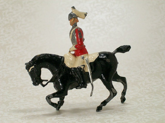 Antique metal toy soldier