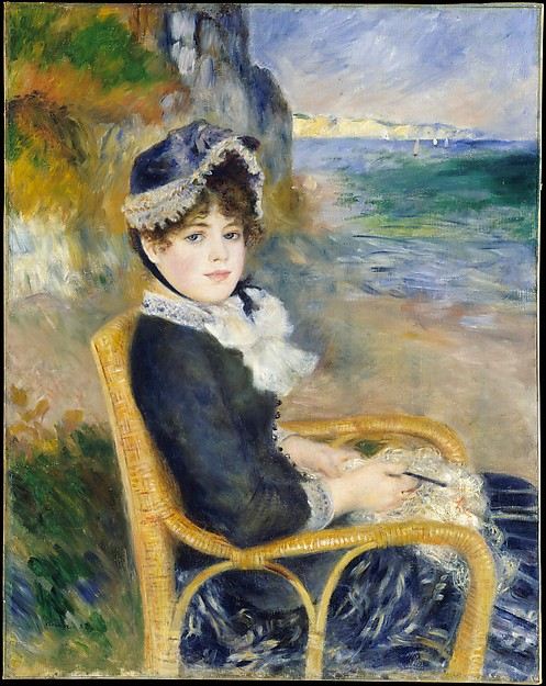 By The Seashore c. 1883 by Auguste Renoir