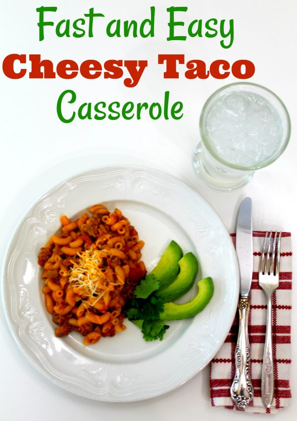 Fast and Easy Cheesy Taco Casserole