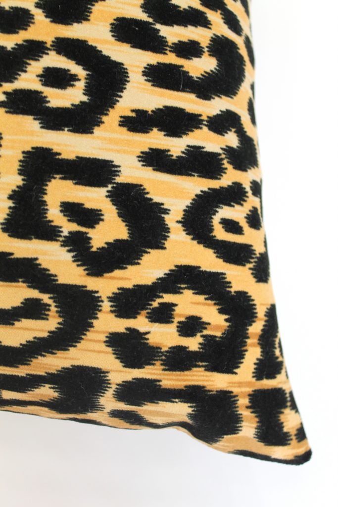 The Iconic Scalamandré Leopardo Pillow and my $5 Knockoff