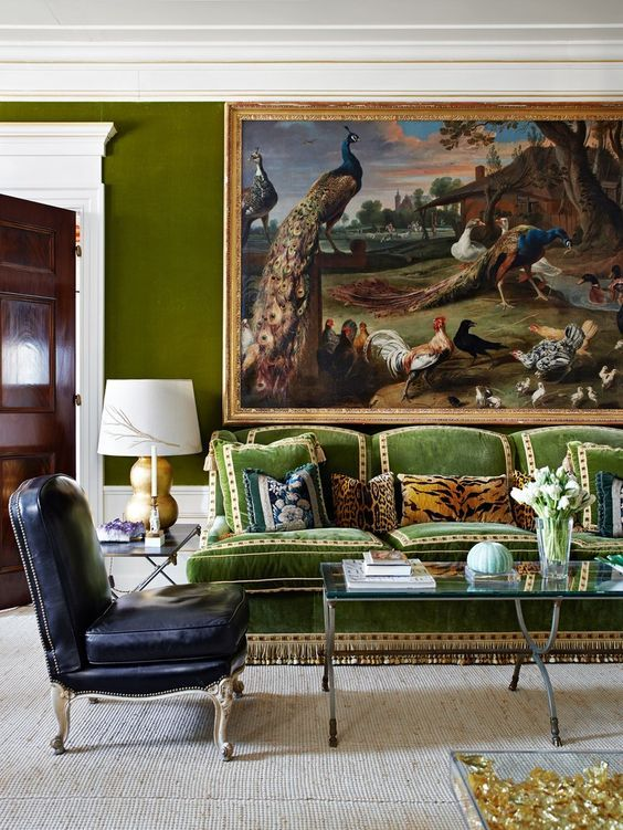 Tory Burch's apartment with Scalamandré Leopardo Pillow