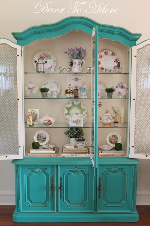 spring home tour cabinet
