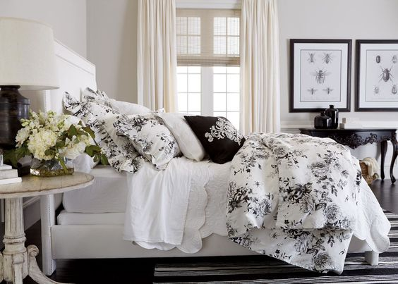 Ava Rose Linen Duvet Cover and Shams - Ethan Allen
