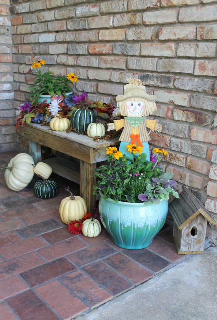 Adding Fall To A Front Porch When It's Still Hot