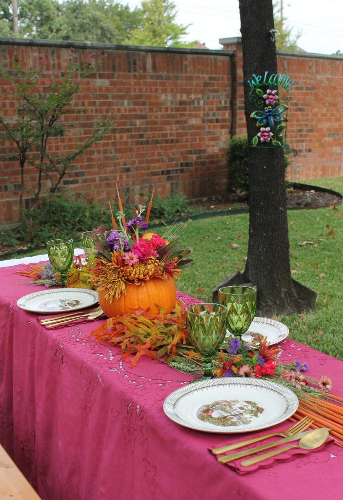 Decor To Adore Storybook Cottage Early Fall Garden table decor