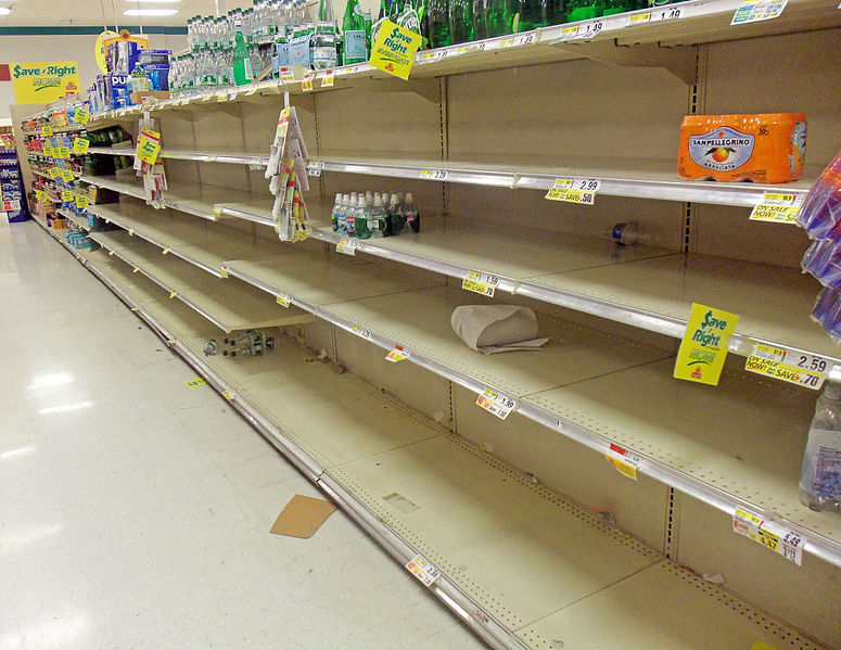 empty grocery store shelves in texas