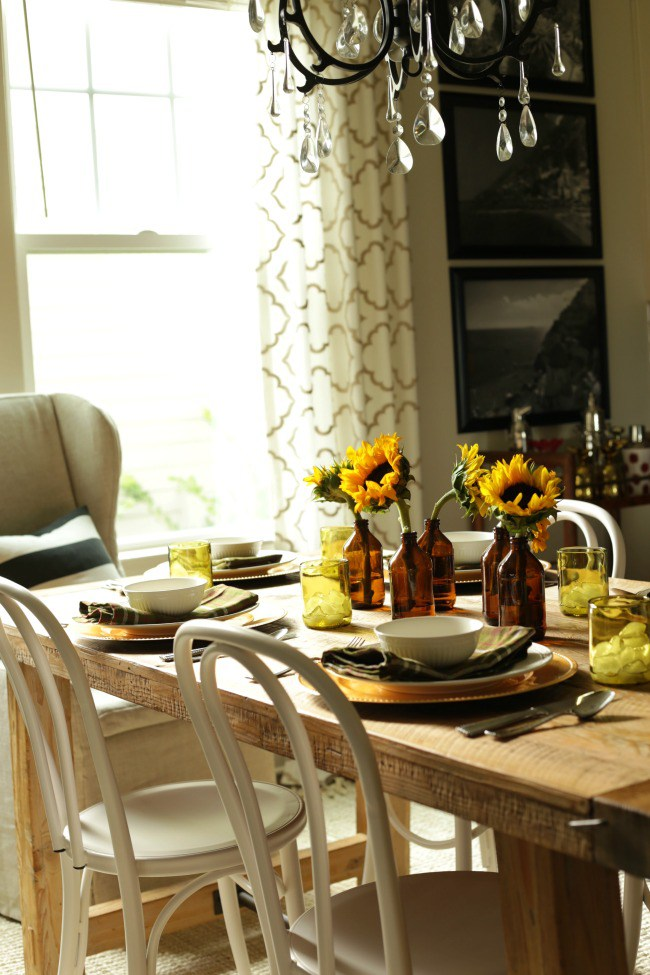 fall wood table home tour