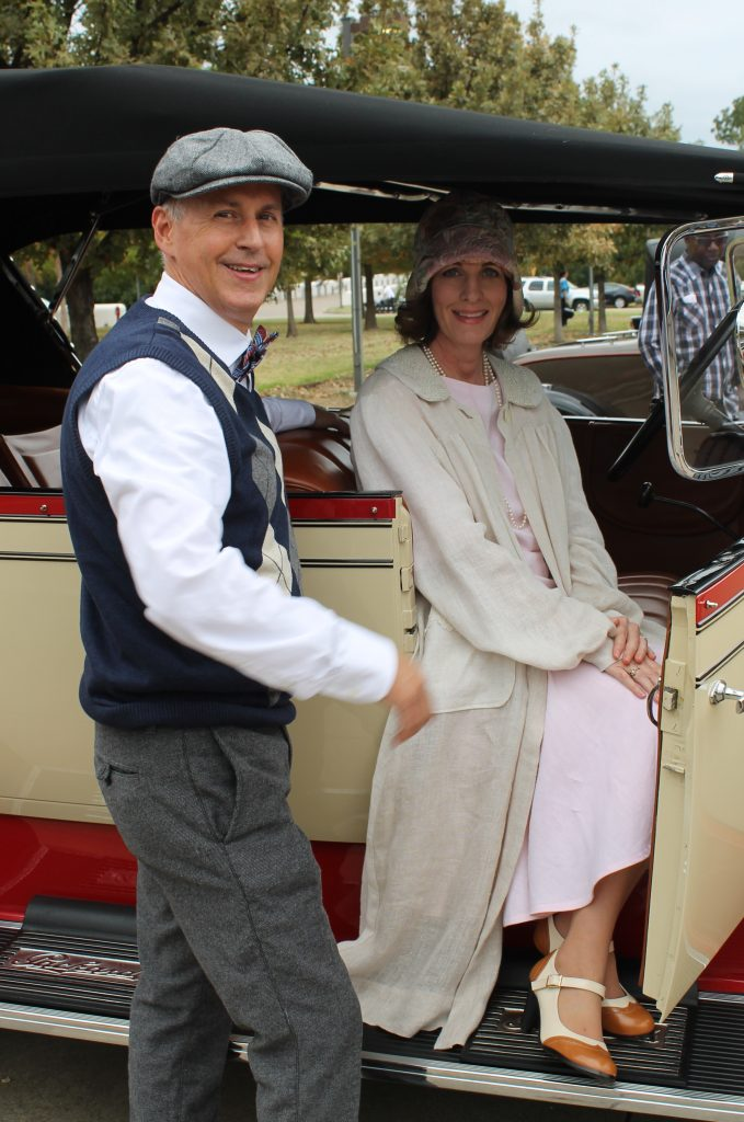 Decor To Adore 2017 Costume Reveal The 1920's sitting in car