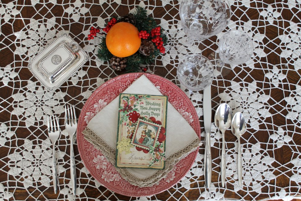 Dickens tablescape