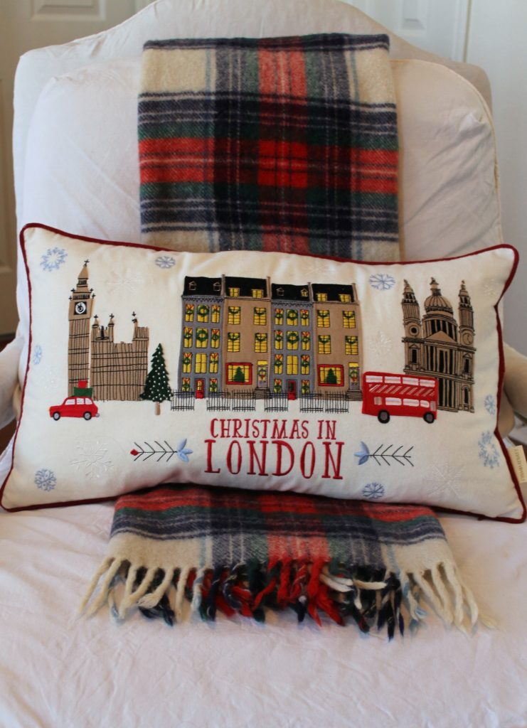 Christmas in London pillow