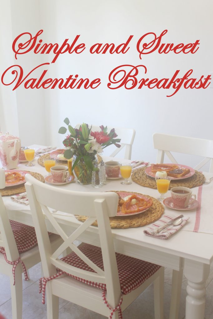 Sweet and Simple Valentine Breakfast