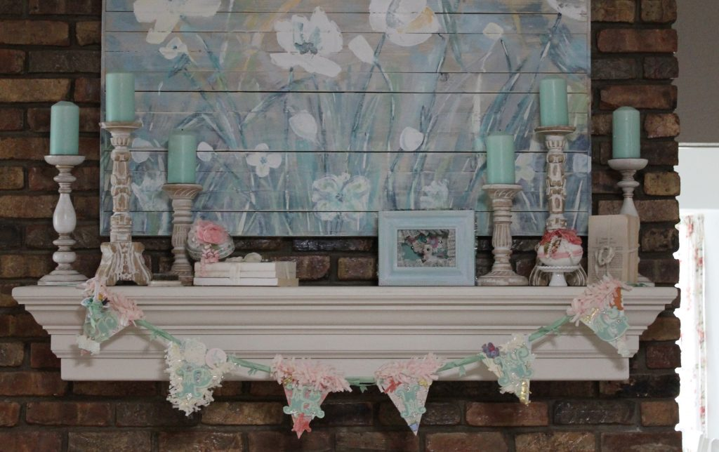 Vintage Easter Tour Decor To Adore mantel