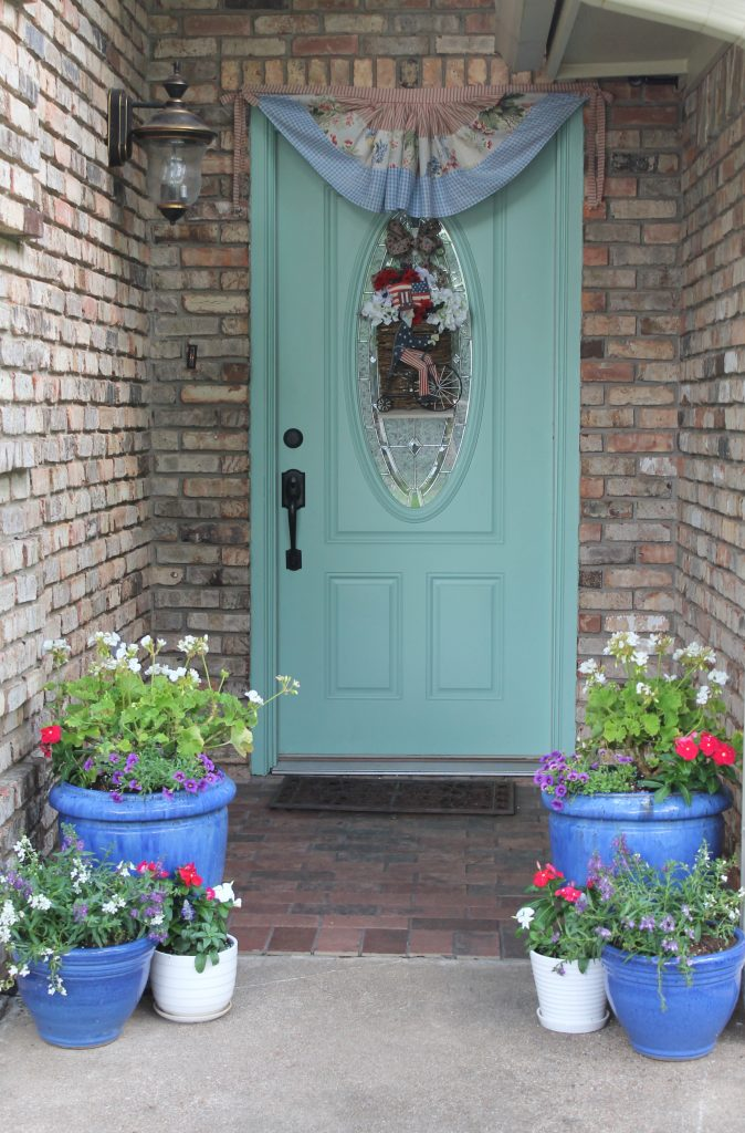 A Patriotic Porch At Storybook Cottage