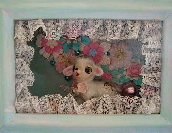 Springtime Craft Lamb Shadowbox