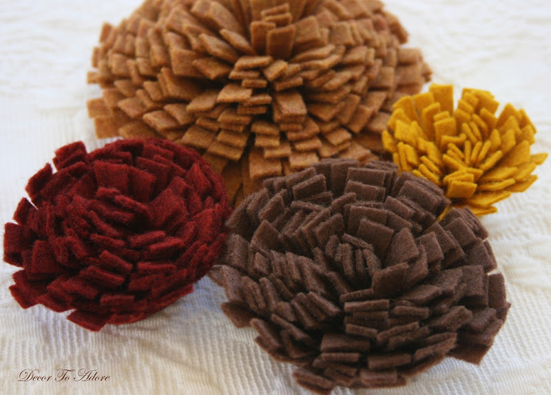 fall wreath felt mums