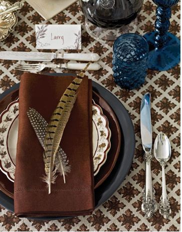 Feather fall tablescape