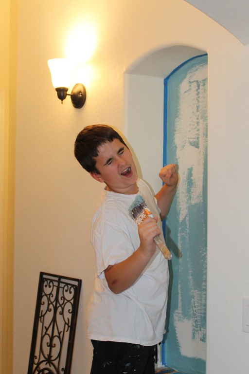Annie Sloan Painted Wall Technique