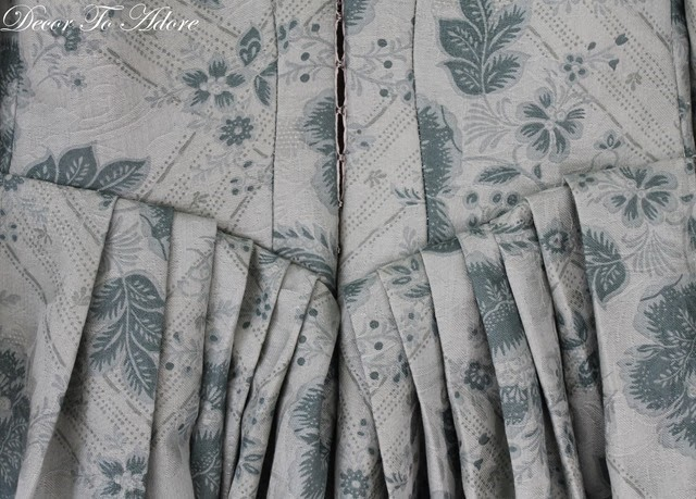 18th Century Ensemble Decor To Adore back of gown