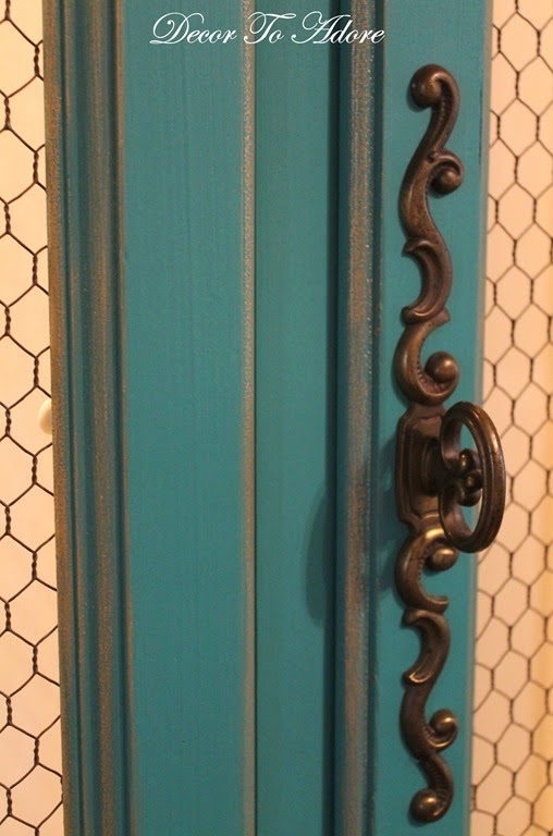 The French Hutch is Painted