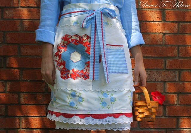 Eleanor's Aprons red