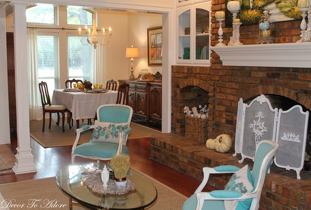 Fall Home Tour 2015 dining area