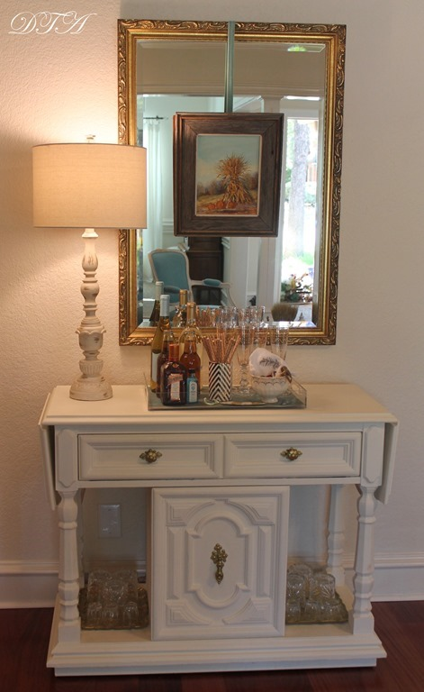 Fall Home Tour 2015 bar cart