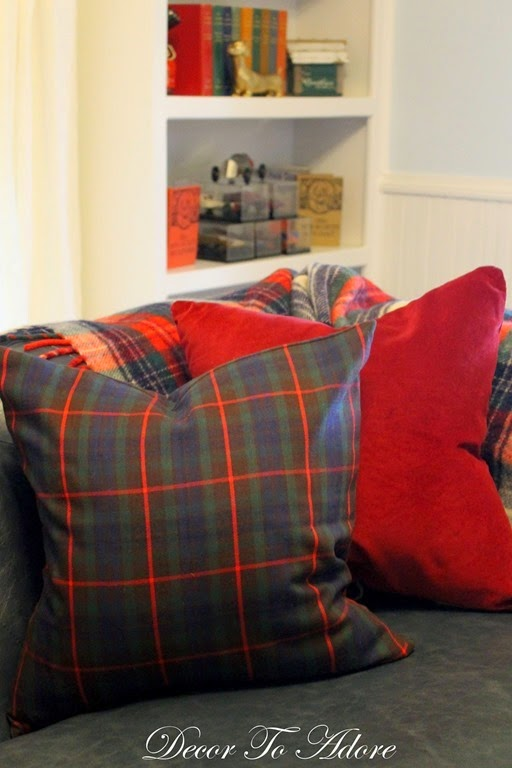 Fall Home Tour 2015 family room pillows