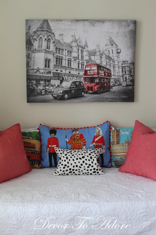 Three Pillows from Vintage Souvenir Tea Towels