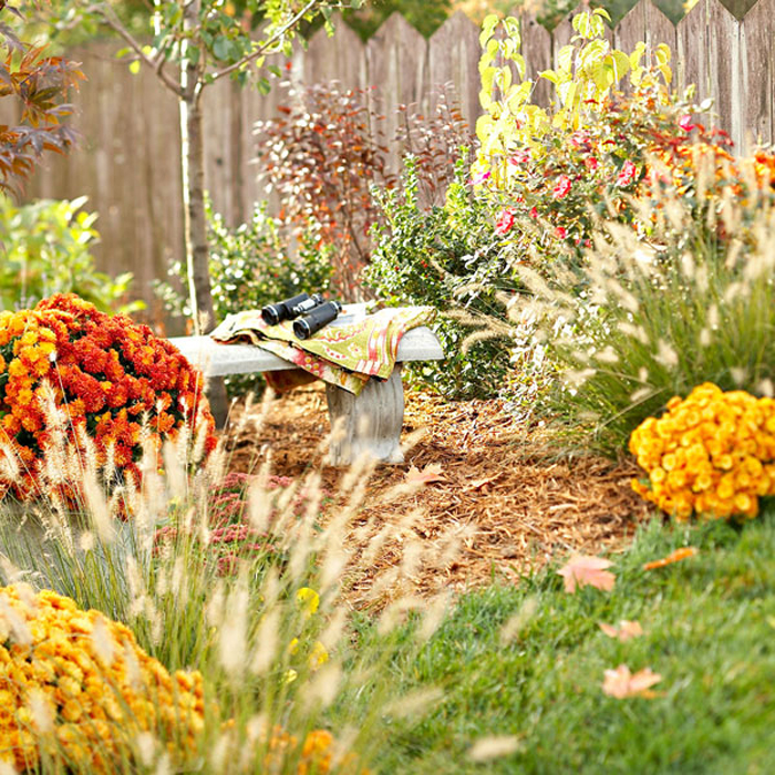 A New Brick Flowerbed For Fall And Landscaping Ideas