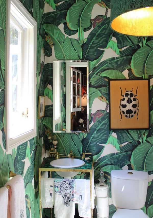 ORC Week 5 The Old Palm Beach Bathroom Gets A Wall Treatment and then Another One
