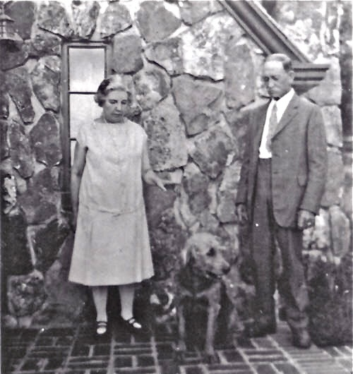 Almanzo and Laura and the rock house