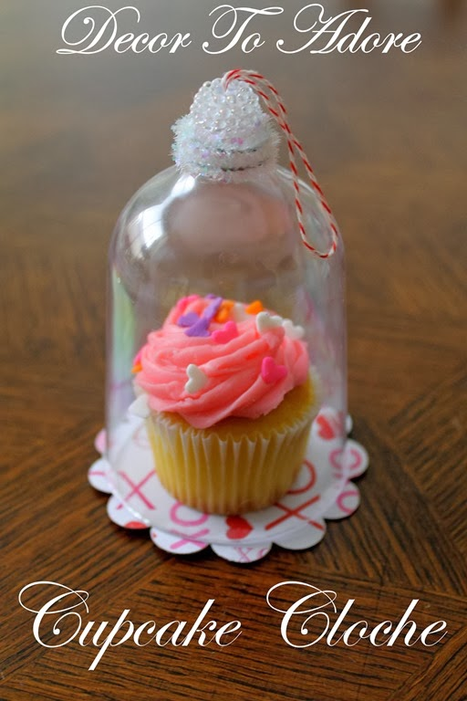 Valentine Cupcake Cloche Decor To Adore