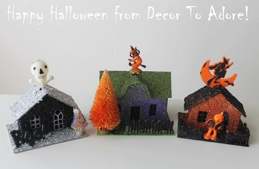Halloween Glitter Houses
